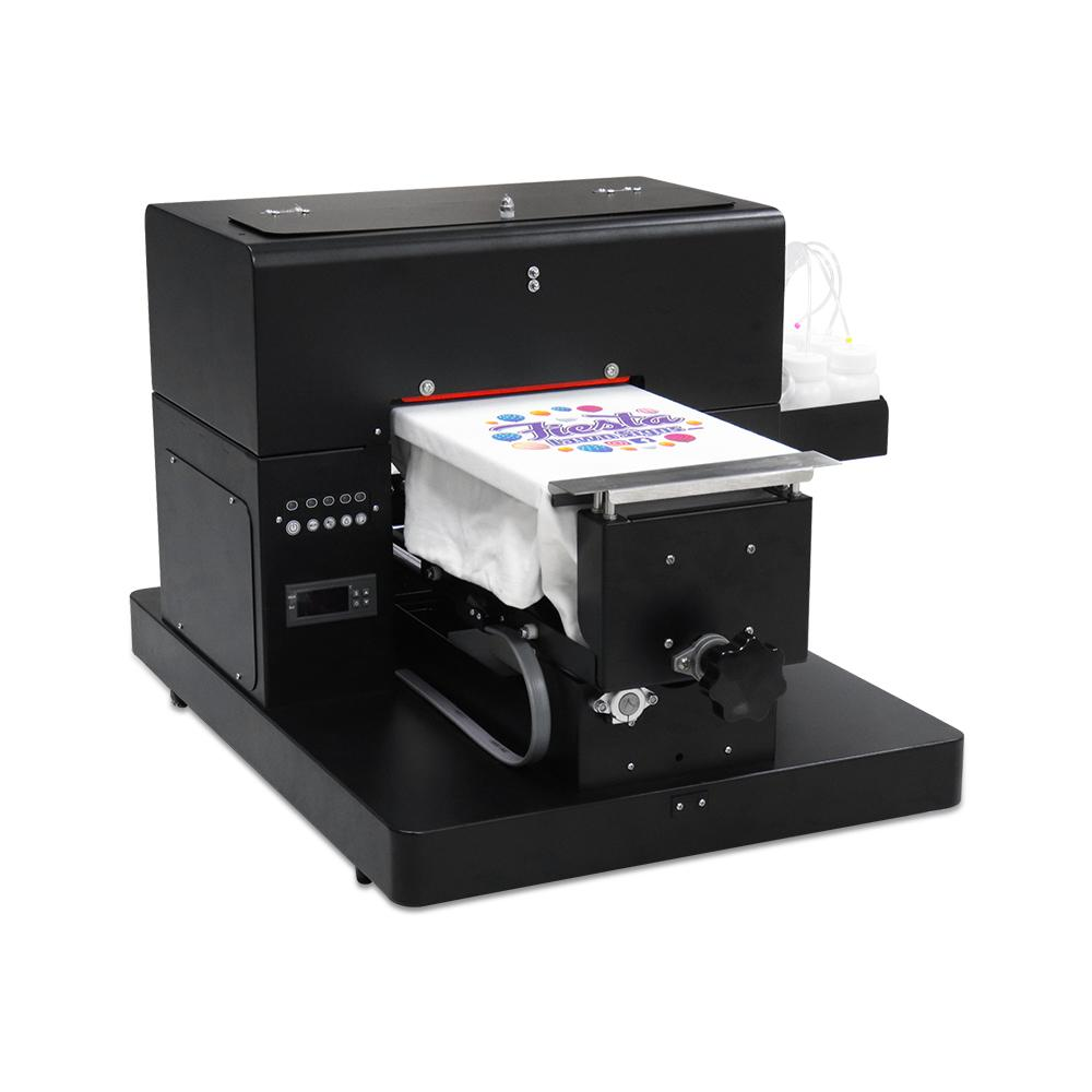 جودة عالية DTG طابعة A4 طابعة مسطحة ل تي شيرت بولي كلوريد الفينيل بطاقة الهاتف حالة طابعة متعددة الألوان DTG آلة الطباعة