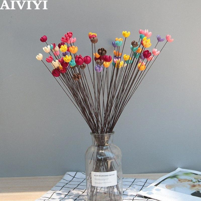 10pcs / natural dried fruit dried flower vase glass bottle decorative filler home wedding decoration accessories oVCp#