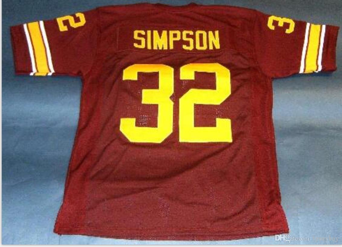 # 32 OJ Simpson USC TROJANS Heisman NC Koleji Futbol Jersey boyutu s-5XL Vintage veya özel herhangi bir ad veya numara forması Custom Erkekler Gençlik kadınlar