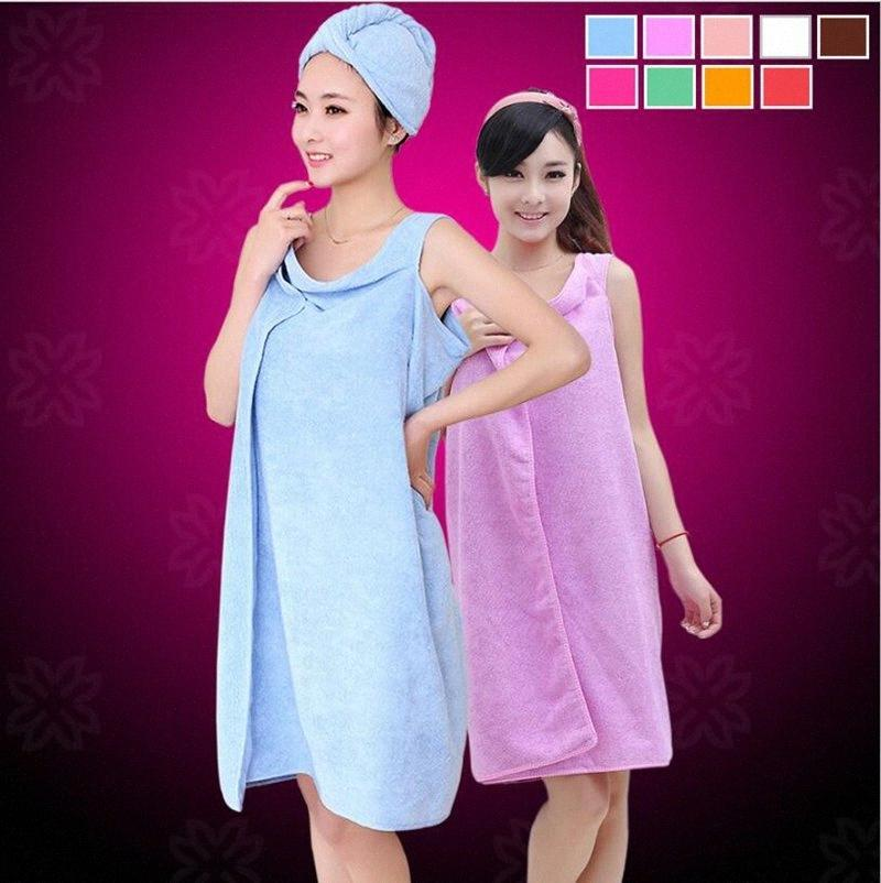 Magic Bath Towels Lady Girls SPA Shower Towel Adult Kids Body Wrap Bath Robe Bathrobe Beach Dress Wearable Magic Towel 9 Color YL980 x1Q3#