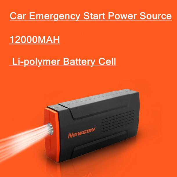 Multifunctional Fire Maker 12V Li-polymer 12000mAh Automobile Motorcycle Emergency Jump Leads Battery Starter USB Power Bank