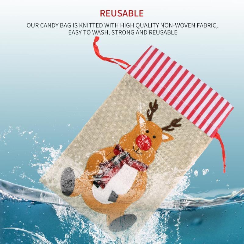 Рождество печенье конфеты пакет подарки мешок DIY самоклеющихся OPP мешки для Xmas домашней партии Упаковка Украшения выпечки Поставки