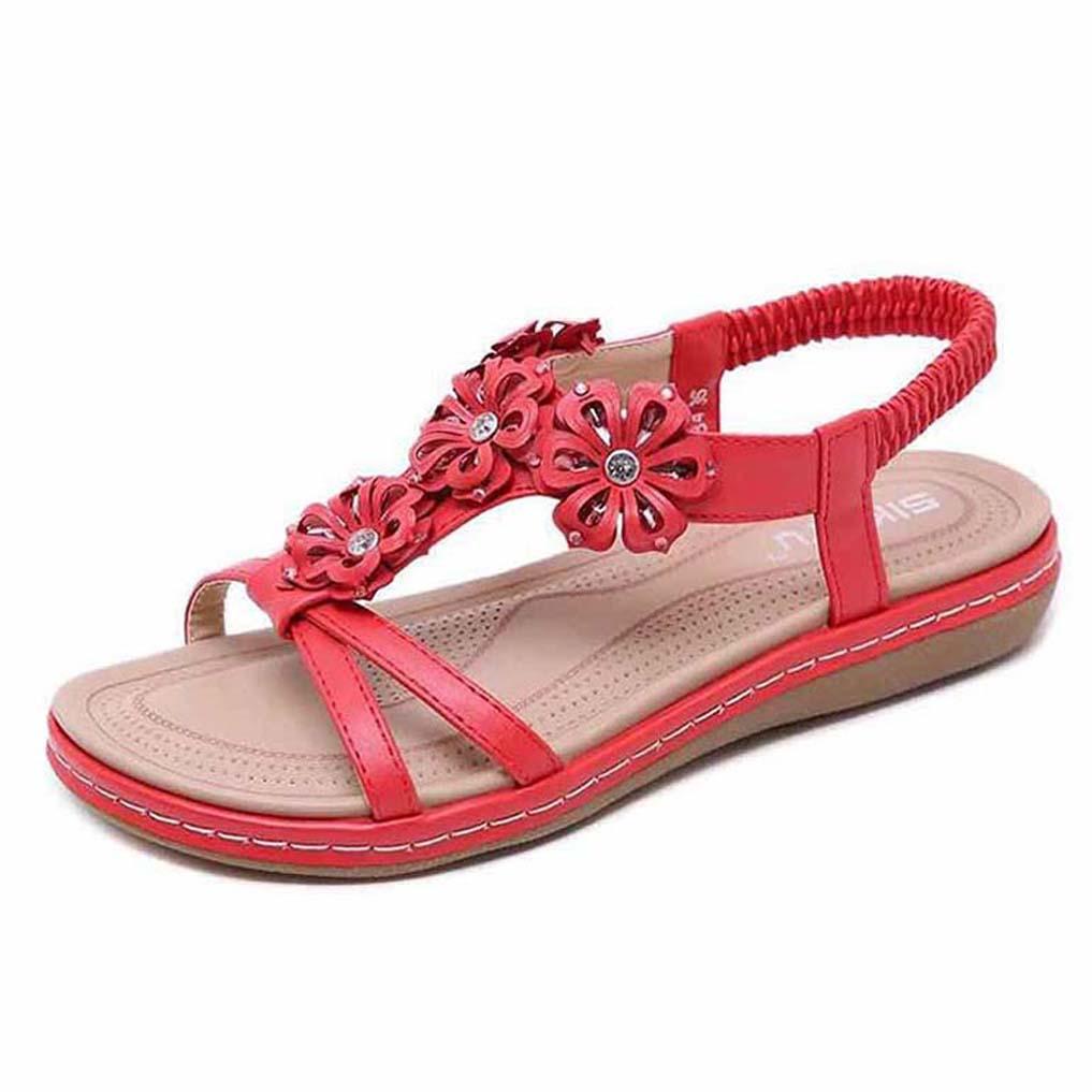 Mode Sandales d'été Flats sandales plateforme en cuir véritable Sexy Flats Chaussures femmes Chaussures de plage 07 P265