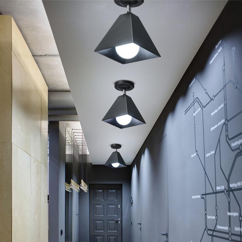 Techo nórdica Lámparas Led moderna minimalista dormitorio Baño luces de techo Focos Pasillos luces del balcón Porche Sala creativas