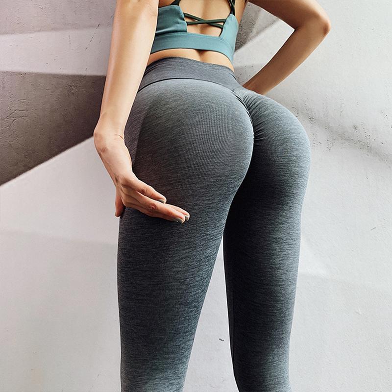 Frauen Nahtlose Fitness 4 Farben mit hohen Taille Nahtlose Sexy Fitness-Gamaschen für Frauen Push Up Legins Frauen Workout Legging