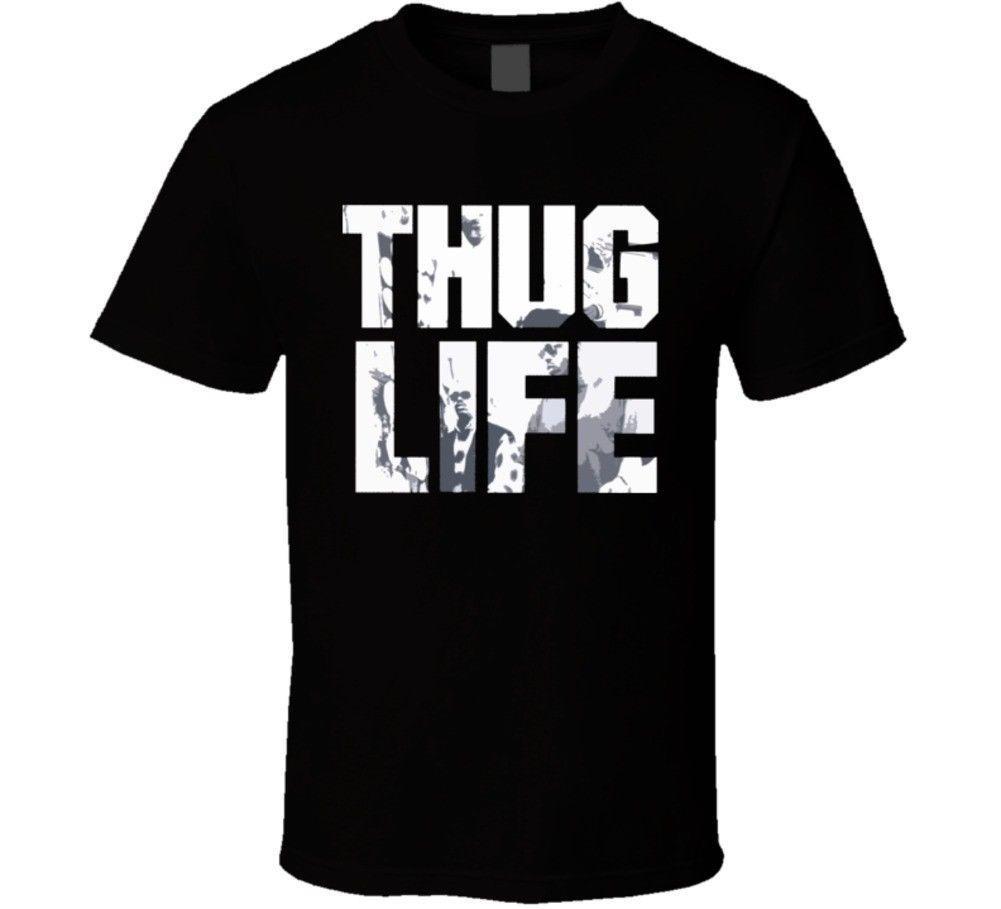Thug Life Tupic Album maglietta del cotone di modo degli uomini T-shirt manica corta Hipster T Top Tee Men estate T-shirt