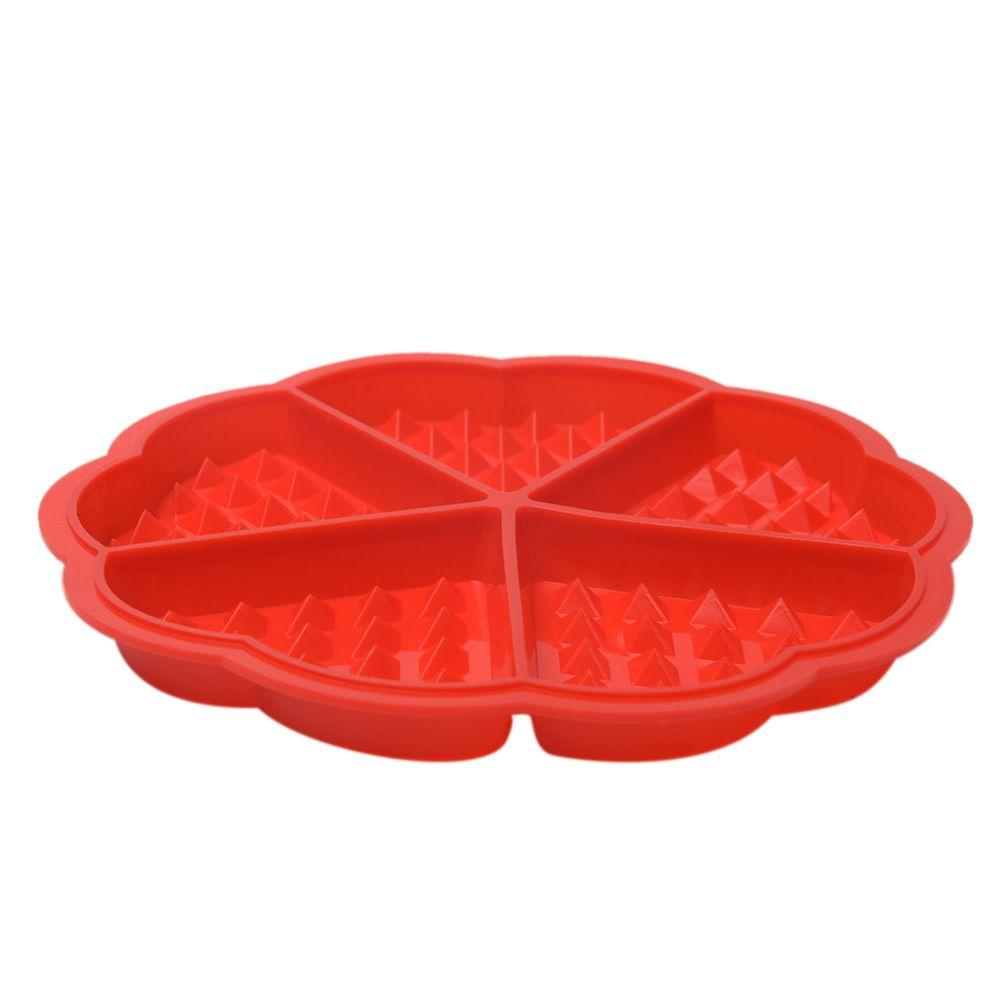 Silikon-Waffel Kuchen Schokolade DIY-Wannenform Kuchenbackform (Farbe: rot)