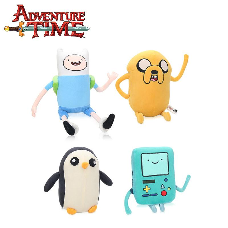 25-43cm Adventure Time Plüschtier Jake Penguin Gunter Finn Beemo BMO weiche Plüschtiere Puppen Party Supplies Brinqudoes bebe LJ200810