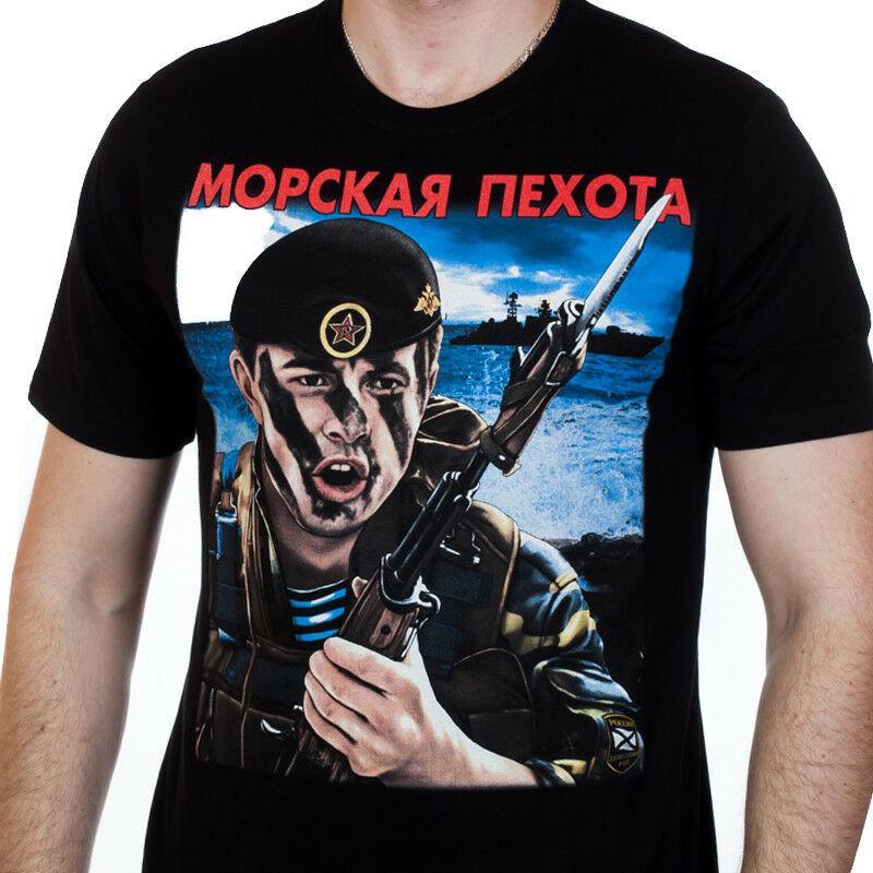 Мужчины футболка военных Marines в черной 100% cotton.T футболки включает в себя передние России