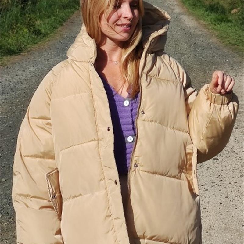 Зимняя мода Сыпучие зима хлопка пальто пуховик хлопка-проложенный одежды для женщин Короткие Стиль хлопка ватник одежды 200924