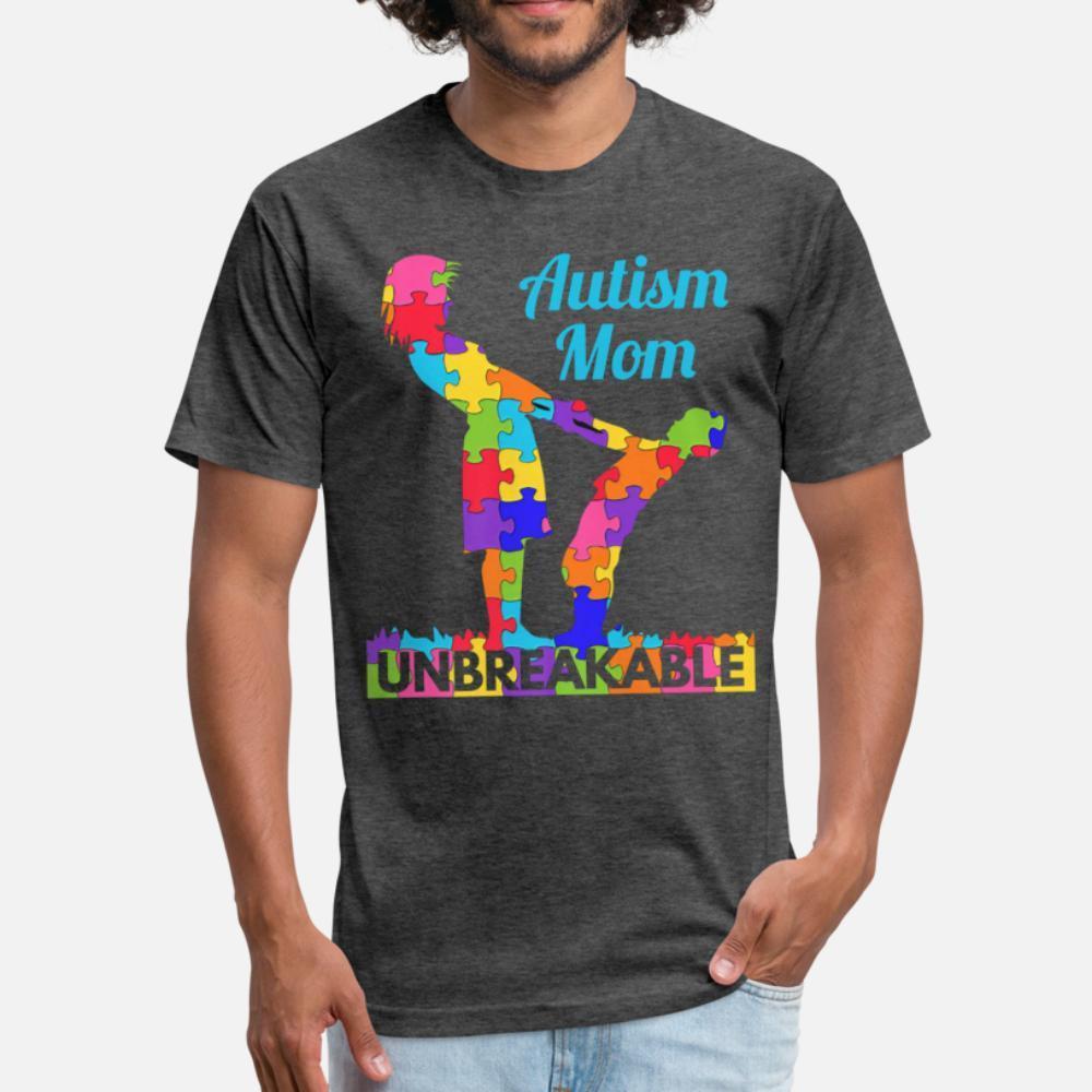 Autism Awareness regalo mamma Autismo Supporto uomini della maglietta Stampa tee shirt girocollo autentica Camicia convenzionale grafica estate di stile Lettere
