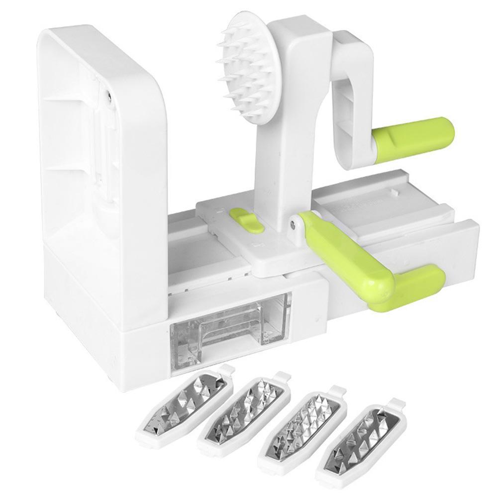 ABS Cozinhar Ferramenta de Mão Crank espiral Vegetable Slicer Potato 4 lâminas de corte