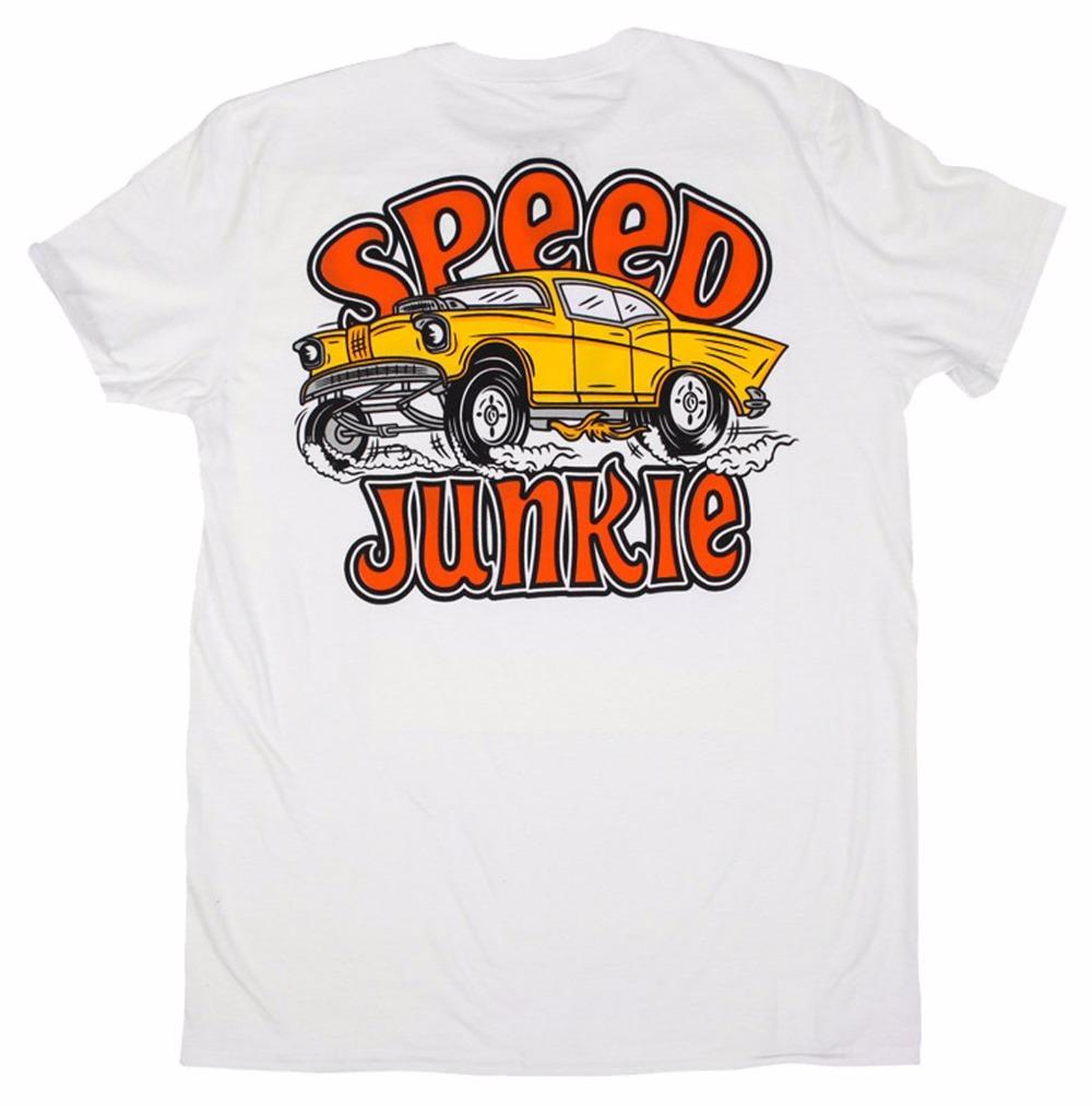 Le plus récent 2019 de la mode masculine coton Fitness Vêtements T-shirts SPEED JUNKIE T-SHIRT ROCKABILLY DEVIL ROCKER T-shirt de TATTOO