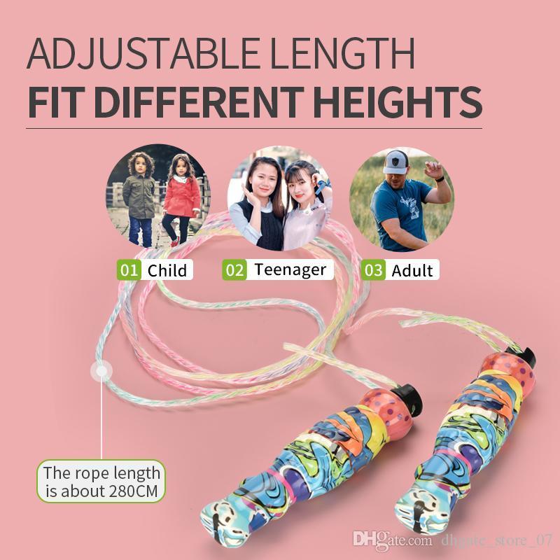 Новый и красивый скакалка взрослых фитнес-тренировки для мальчиков и девочек, спортивное оборудование канатного длинный регулируемый шаблон веревки