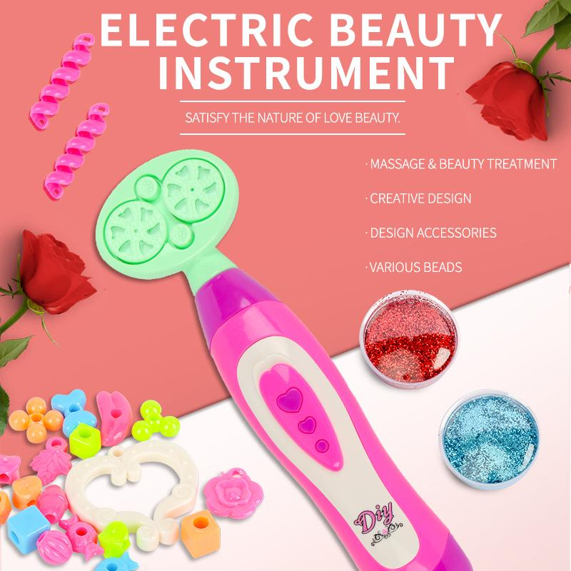 Electric Automatic Hair Braider DIY Stylish Braiding Hairstyle Tool Twist Braider Machine Hair braid Weave Play house toy Beauty toys