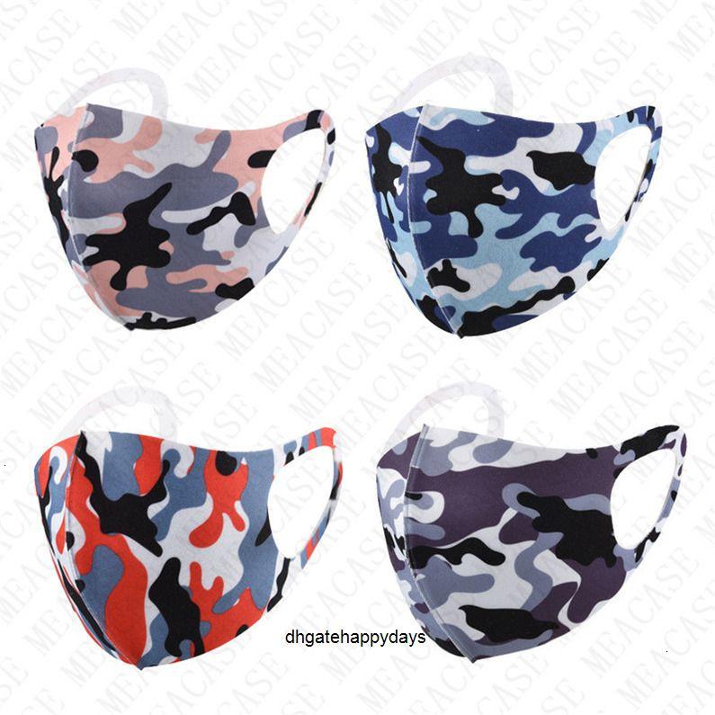 Masque pas cher Lavable fleur de noix de cajou de camouflage sunproof antipoussière Sport Bouche Couverture Soie Ice Masques Respirant Hommes Femmes D72804