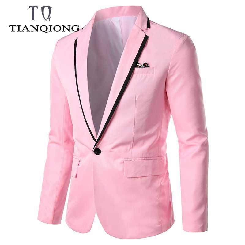 Mens di marca Festa di nozze Abiti Autunno Uomo Slim Fit Abiti Blazer Masculino vestito degli uomini formale Scena Suit Mens Blazer