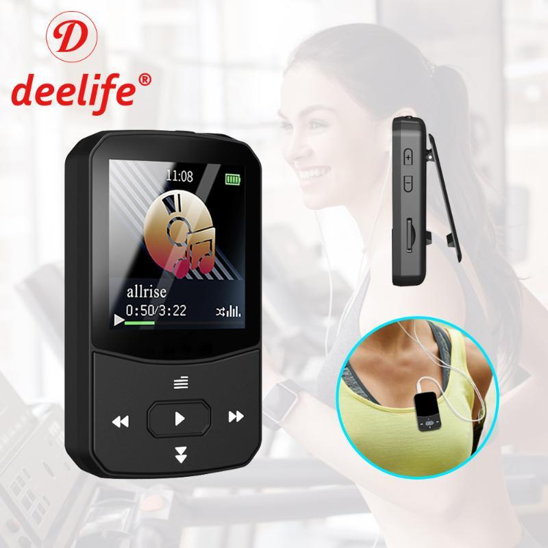 Deelife Mini Clip MP3 Player Bluetooth with FM Radio Music Play for Running Recording Video Portable Sport MP 3 player