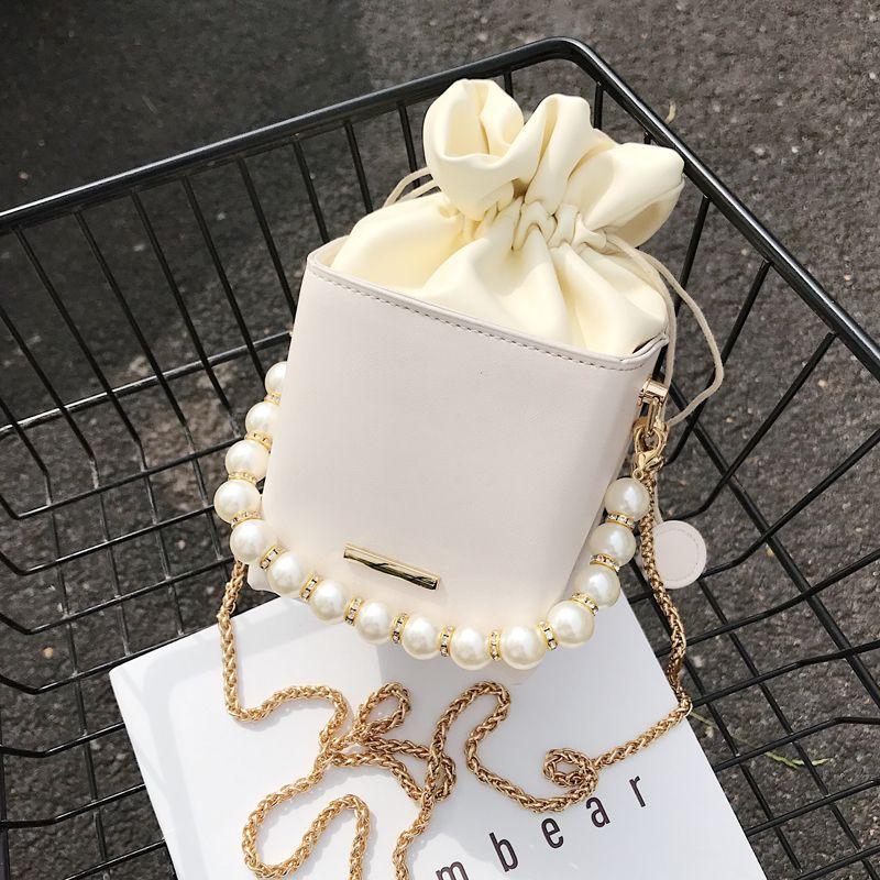 Box Forme PU Sacs Crossbody cuir pour femme douce épaule Sacs à main Drawstring Cross Femme Été Voyage Body Bag 200923