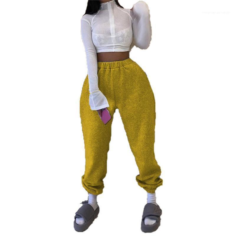 Elastische Taille Ganzkörperöffnung Frauen Damen Designer Kleidung Frauen Hosen Aktiv Lose Natürliche Farbe Bleistift Hosen Lässig