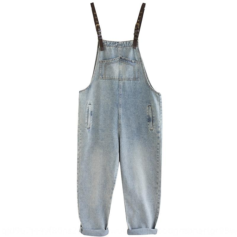 Kore tarzı gevşek ve sevimli yabancı stil yaş azaltıcı düz bacak küçük ayak bileği uzunlukta pantolon moda tulum pantolon sapan tulum internet r