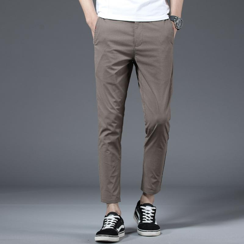 Personalisierte slim fit knöchellangen Hosen beiläufige Art und Weise der koreanischen Art Allgleiches beiläufige Hosen der Männer dad Hosen einfache Neun-Punkte-Herren-CW6yl