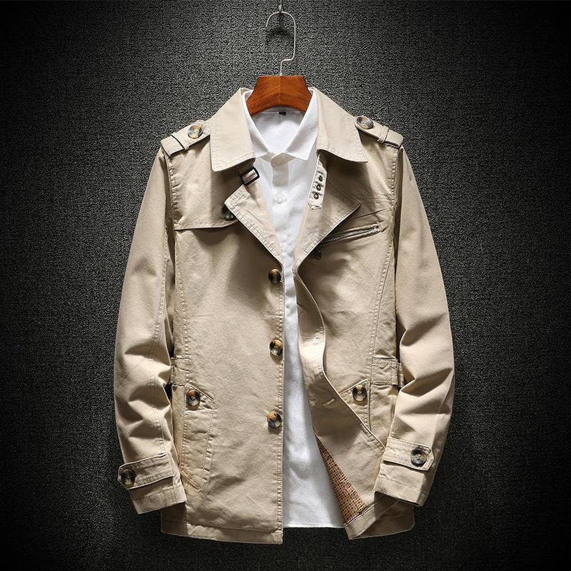 t8HgB coupe-vent lâche veste casual hommes polyvalent mode veste coupe-vent mode jeunesse coupe-vent nouvelle veste mi-longueur