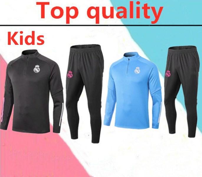 2020 Реал ISCO тюка дети футбол куртка chandal костюм 2020 2021 RONALDO Asensio ISCO дети футбол Обучение костюм