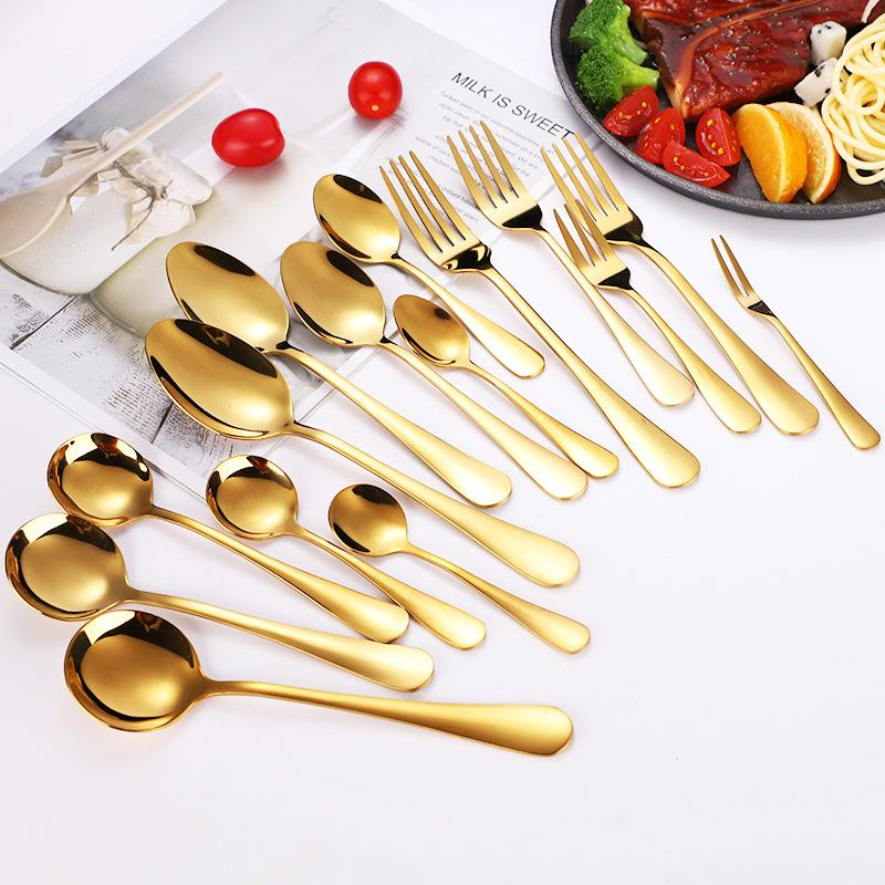 Hot Sale 1set Premium Silverware Set Flatware Stainless Steel Cutlery Mirror Finished Service for 4 Fast Shipping