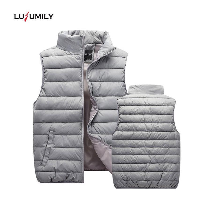 Lusumily Plus Size M-5xl ärmelWinterJacke Schwarz Daunenweste Frauen windundurchlässiges warm Weste Outwear Frauen Westen Heiße Verkäufe
