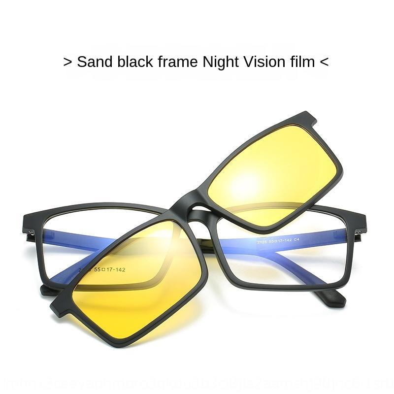 SPcRN Nouveau cadre de la myopie TR90 lentille magnétique Myopie lunettes de lecteur optique mis une lentille à double usage ultra lunettes de conduite de lumière s pour les femmes et les hommes pour