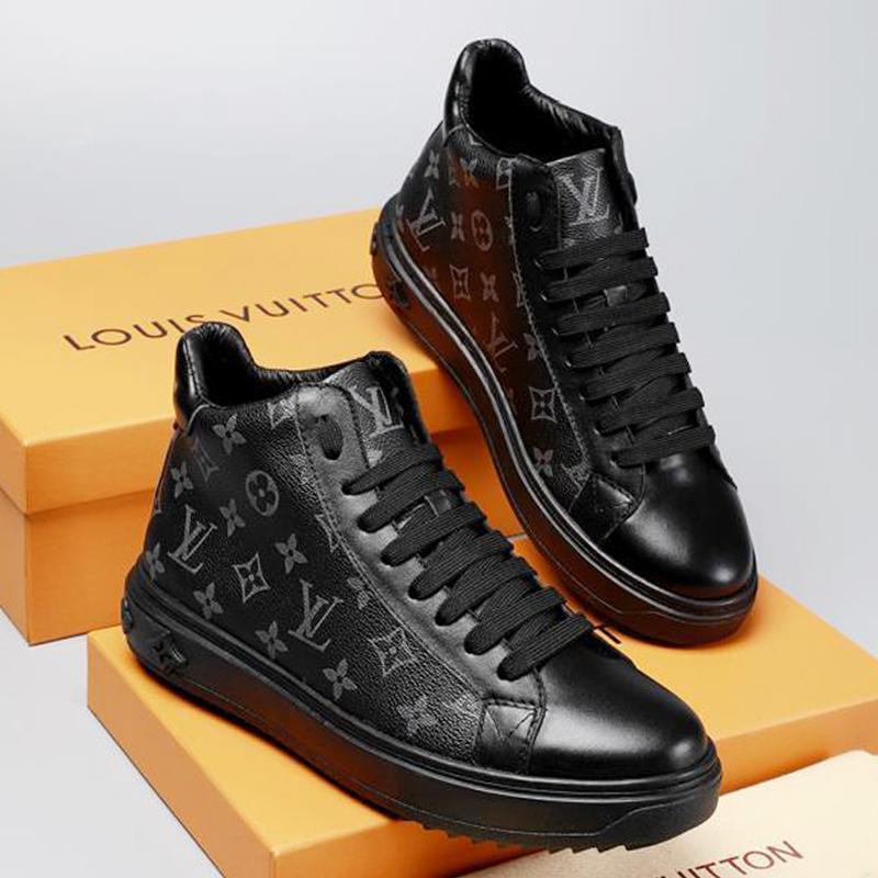2019w gedruckte Streifen hohe Mens-beiläufigen Schuh-hochwertigen Luxusfreizeitschuh echtes Leder schnürt sie oben Mens-beiläufigen Schuh-Größe 38-46 0046