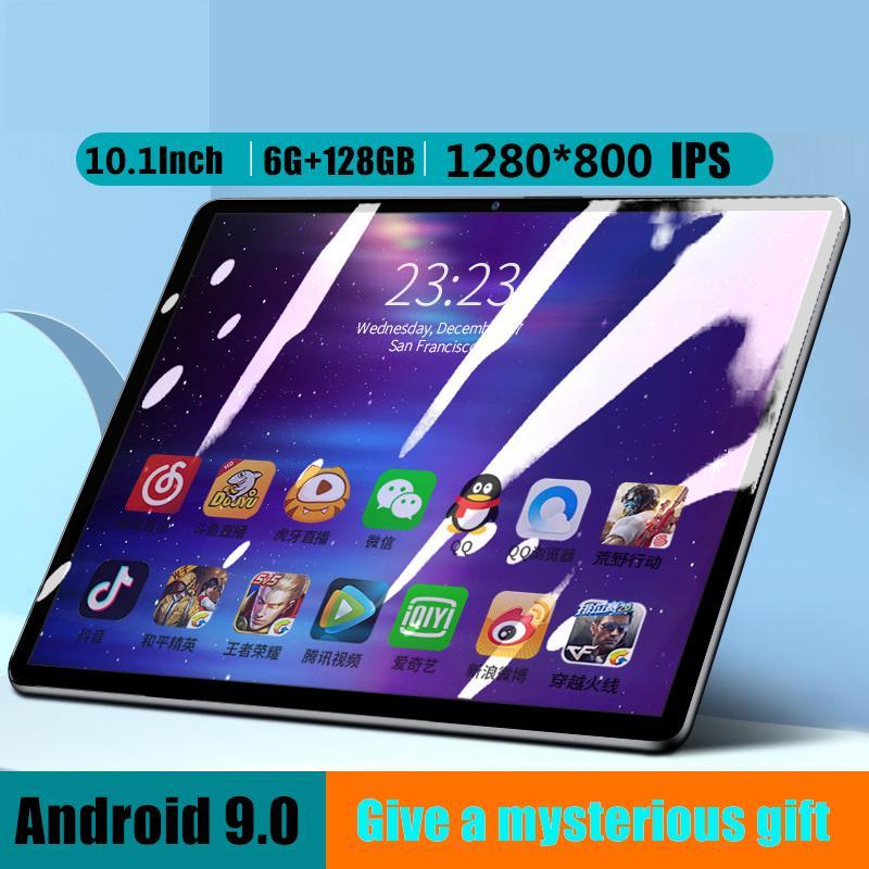 10,1 polegadas Tablet PC 10-core RAM Opção 6GB ROM 128GB IPS 4G LTE Phone Call placa WiFi GPS Bluetooth Android 9 Tablet PC