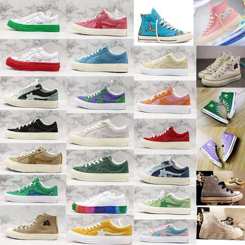 2020 top alto basso tela Golf Le fleur stars 1970 Chuck Taylor 70 bianco Plataforma tutti chaussures stelle sneakers mens progettista casuale nM1R #