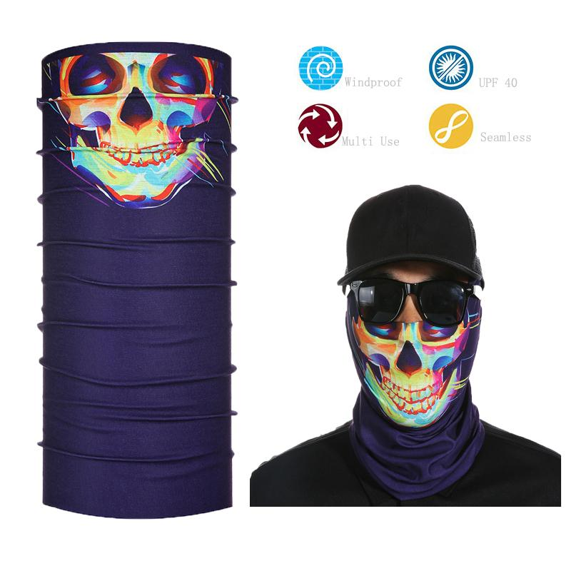 All'ingrosso multifunzionale Seamless Tube Skull Bandana Visiera