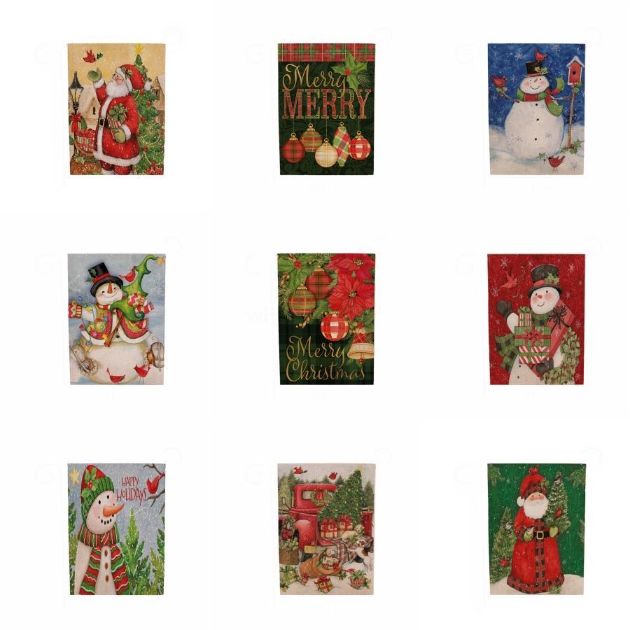 С Рождеством Баннер висячие Вымпел Баннер Флаг Garland Christmas Decor Аксессуары Для дома и сада партии украшения праздника # 305