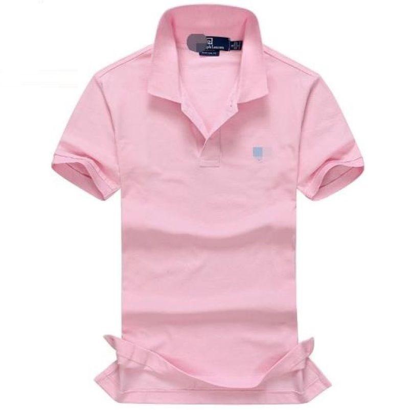 Rosa colore puro allentato Uomo grandi cantieri'S manica corta T-shirt 1796