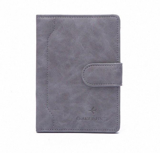 2020 RFID multifunción cerrojo del pasaporte del recorrido cubierta de la carpeta Monedero Unisex viaje de negocios de tarjeta de crédito Organizador envío de la gota QRPO #