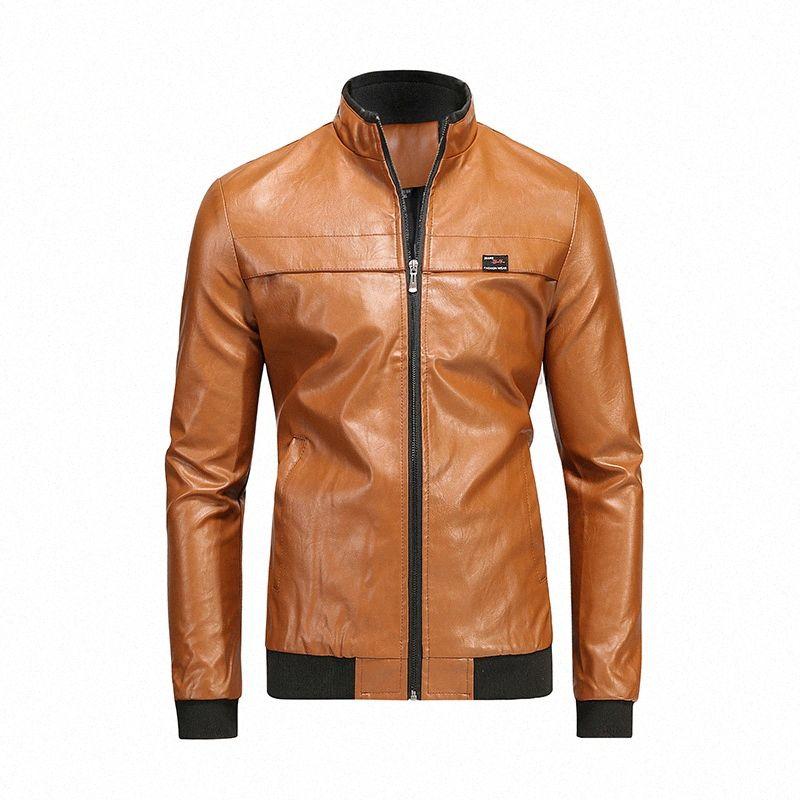 Homens Spring Punk Vintage Casual Estilo Fleece Jaquetas de couro Brasão Men Outwear Moda Motor motociclista Faux Leather Jacket SA 8 Denim Jack kN23 #