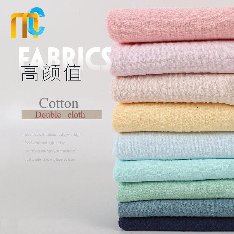 50 * 135cm Doppia garza in cotone 100% in tessuto per vestiti del bambino / indumenti da notte / Camicie / Gonne ZW8530 #