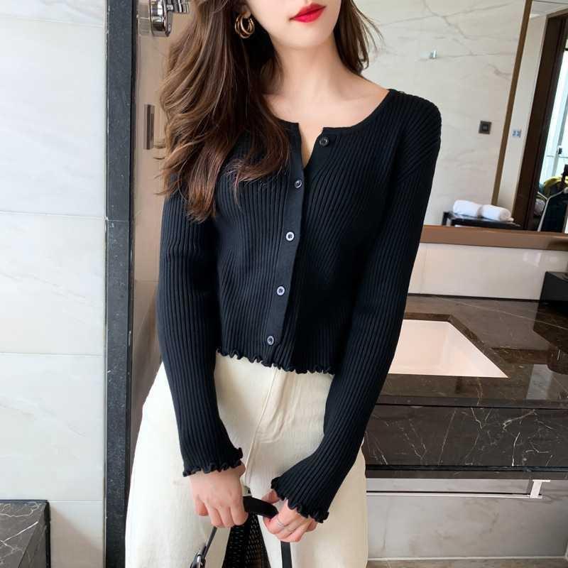 sbzkR Y1LFX 2020 Outono nova manga longa all-corresponder camisola coreana em torno do pescoço solto malha Top Coat camisola cardigan estilo base de revestimento superior das mulheres