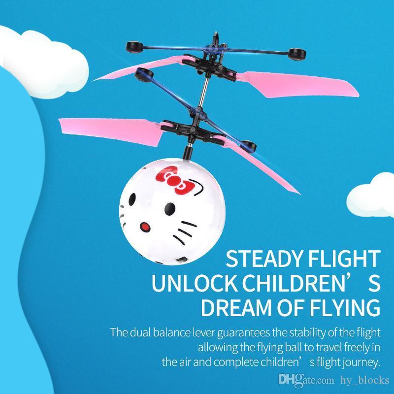Çizgi film karakterleri jest algılama uçan top Gece ışık uçan uçak Uzaktan kumanda çocuklara hediye kızılötesi indüksiyon drone çocuk oyuncak 09