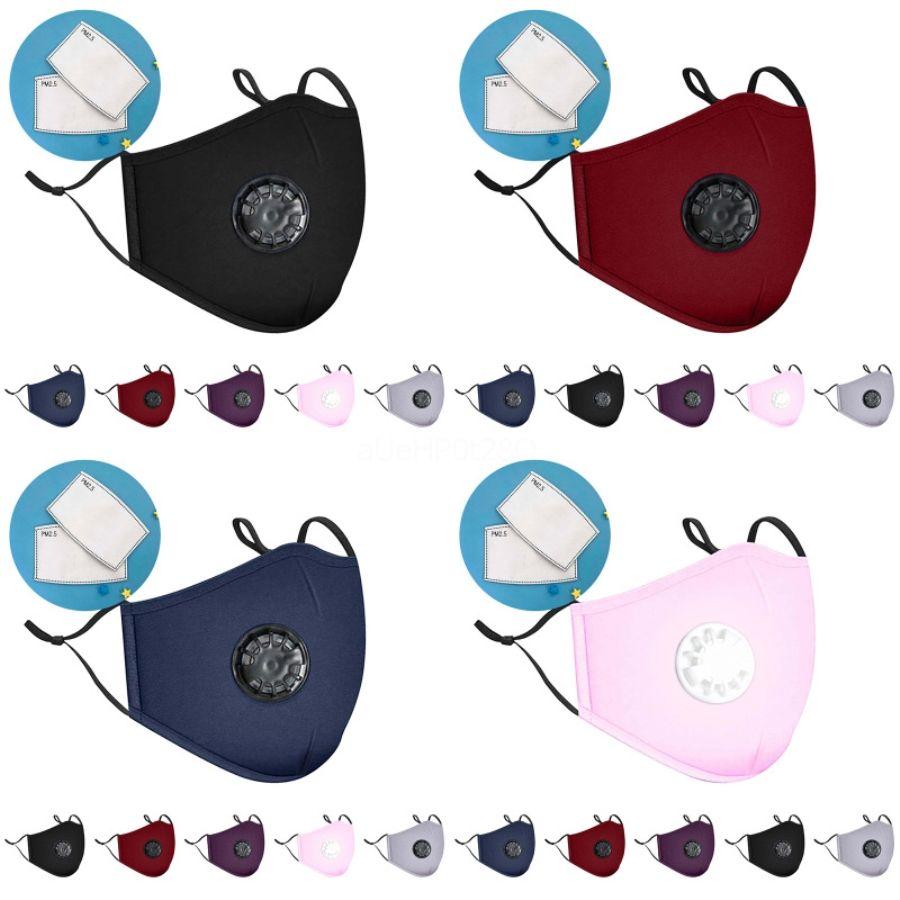 Nuovo Visiera Maschera 7 colori antipolvere Filtro completa protezione del viso Anti Fog lavabile Viso Bocca mascherina protettiva Designer Stampato Mask 60 # 944