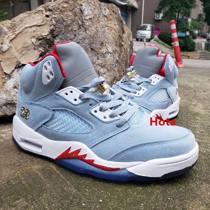 2020 5s Ice Trophy Université Blue Room X Red 5 Hommes Chaussures de basket-ball Sneakers Baskets Chaussures De Designer Shoes Mens Formateurs Taille 1