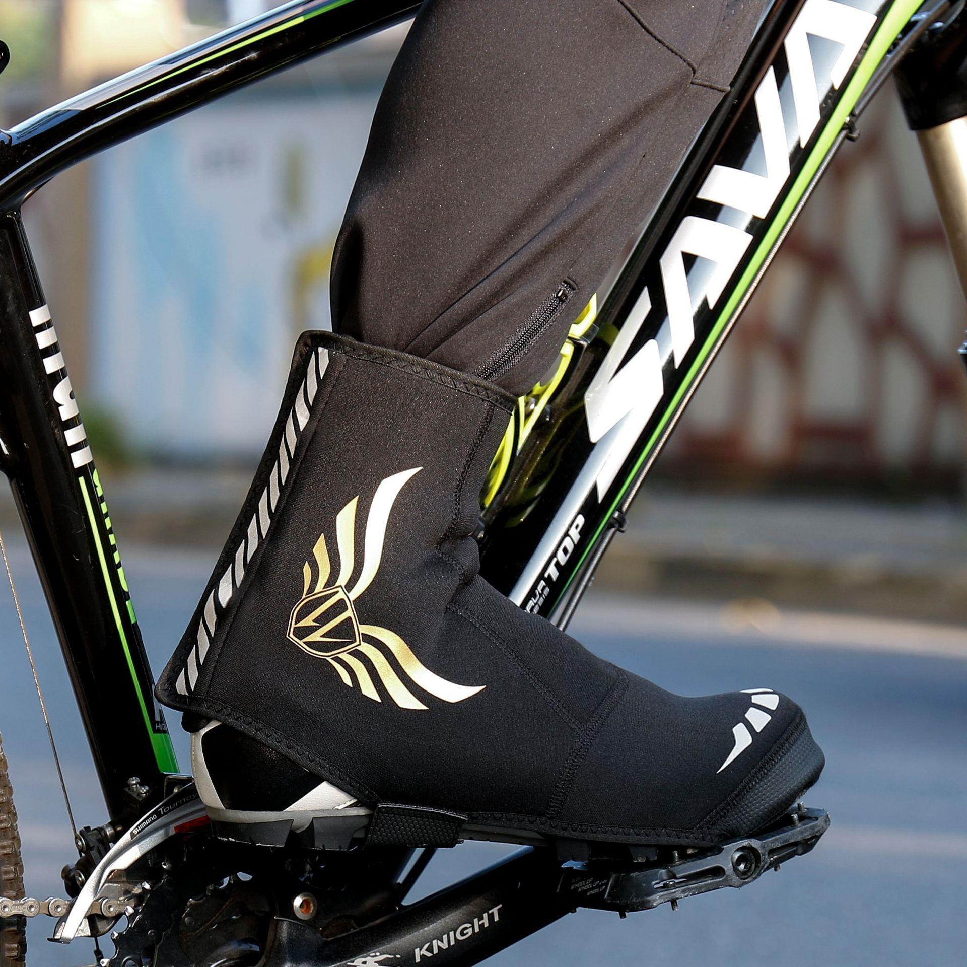 Z1jte wheelup, equitación, bicicleta de botas de montar calientes zapatillas de ciclismo de cierre del paquete shoess coche de carretera de montaña cubierta de la zapata a prueba de viento caliente de ciclo impermeable