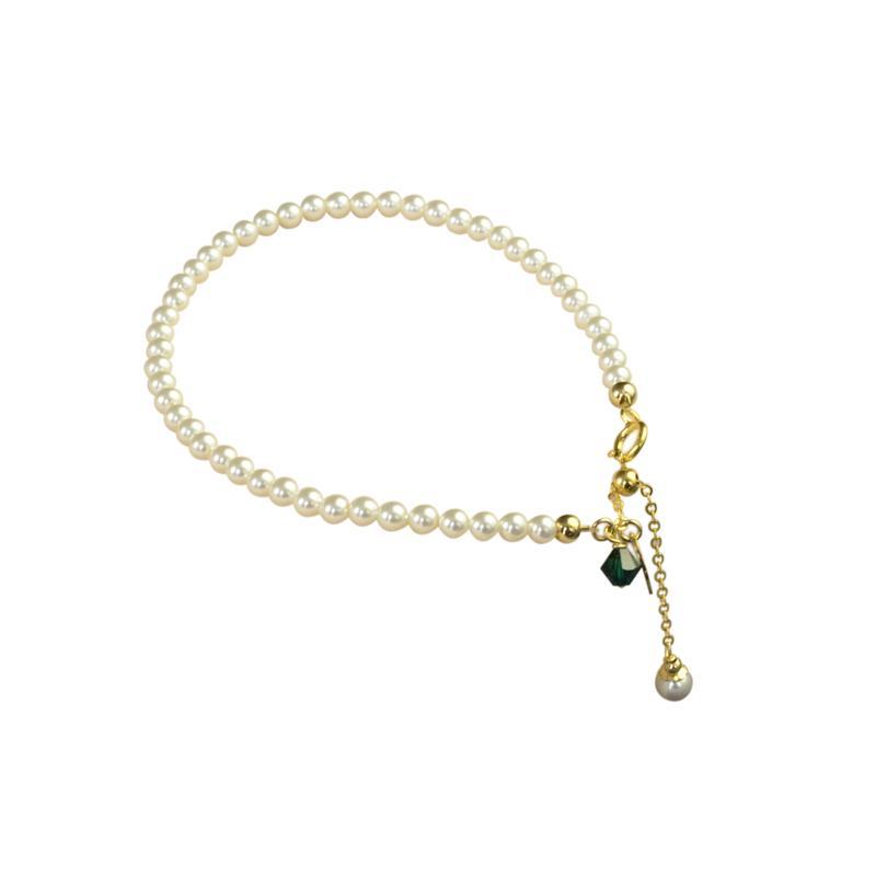 3мм Mini Pearl Hand Chain 14K Gold Женский Сладкие Простой All-матч в корейском стиле маркировочного