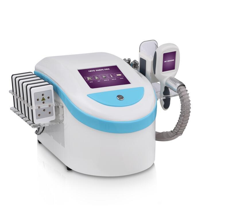 2020 newst Tek kafa dondurulmuş kemer lazer kilo kaybı Mini Serin teknoloji yağ donma cryolipolysis ve RF yüz ve vücut güzelliği makinesi
