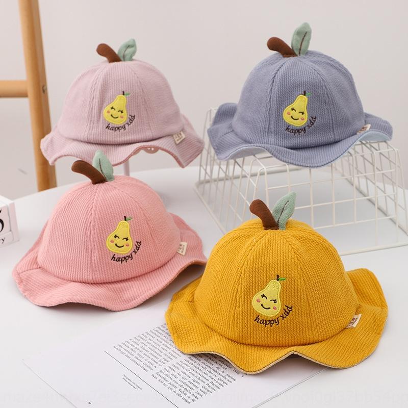 jSxAN Nouveau pêcheur pêcheur bébé crème solaire crème solaire velours côtelé chapeau bébé occasionnel épais coupe-vent garçons et filles de chapeau à la mode pour enfants