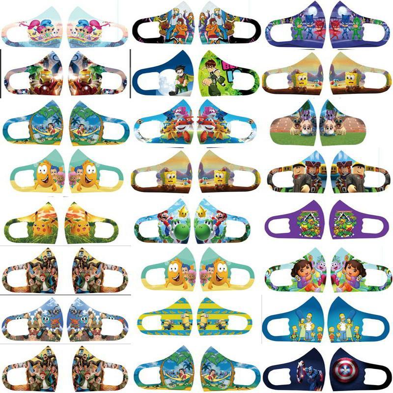 Childrens máscaras Shields Mascarilla De Pelicula Personalizado Máscara Facial Designer crianças máscaras de pano personagem de banda desenhada Máscara protectora da revisão
