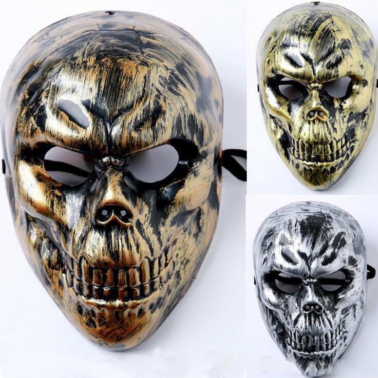Fantasma asustadizo máscaras al por mayor del Mens esquelético cabeza del cráneo de la mascarada para los hombres adultos del payaso de Halloween máscara de la máscara de PVC para toda la cara cubierta CS Campo